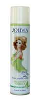 Лак для волосся «Olivia» POWER & SHINE з екстрактом зеленого чаю. Сильна фіксація.